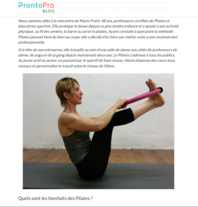 Interview Pilates de Marie Fratti