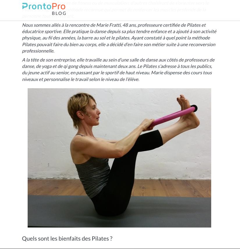 Interview Pilates de Marie Fratti